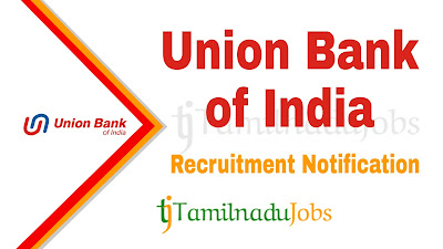 Union Bank of India Recruitment 2019, Union Bank of India Recruitment Notification 2019, Latest Union Bank of India Recruitment Update