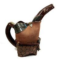 Leaf and Pebble Watering Pitcher