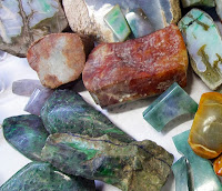 Rough Jade for sale with various colors