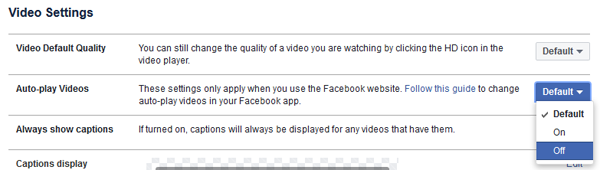 Stop Videos from Automatically Playing on Facebook