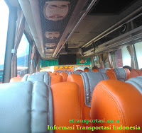 interior bus gapuraning rahayu jakarta-cilacap
