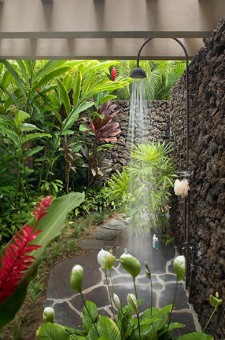 Backyard Outdoor Shower Ideas Everything About Garden
