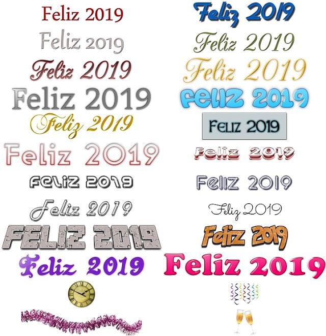 20 Logos Feliz 2019 | PNG fondo transparente