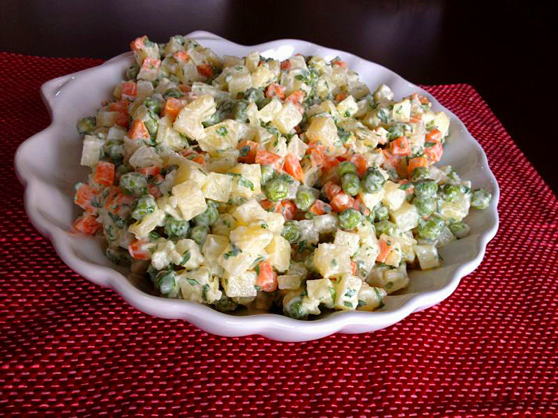 Cooking in the Desert: Russian Salad