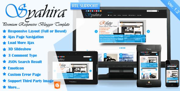 syahira blogger template free download
