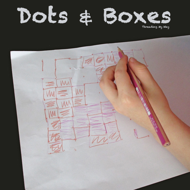 How to play Dots and Boxes - a simple pencil and paper game ~ Threading My Way