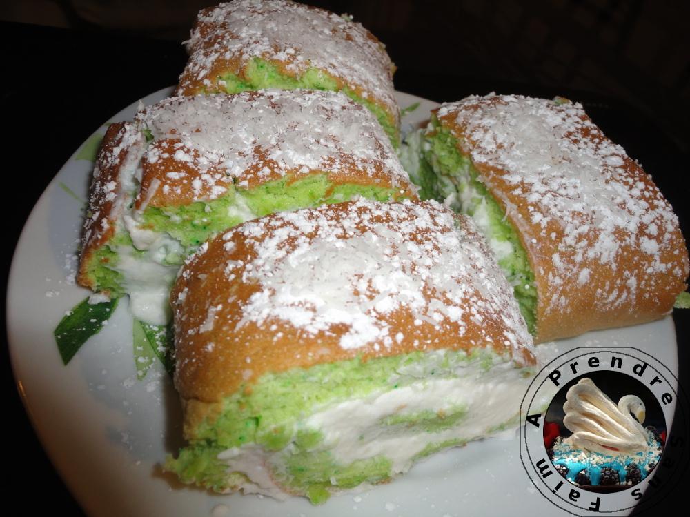 Gâteau pandan noix de coco