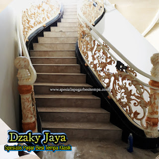Tangga Tempa Klasik Mewah, model railing tangga klasik contoh railing tangga besi tempa gambar railing tangga klasik