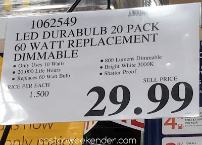 Costco 1062549 - Deal for the Lighting Science Durabulb 60 Watt LED at Costco