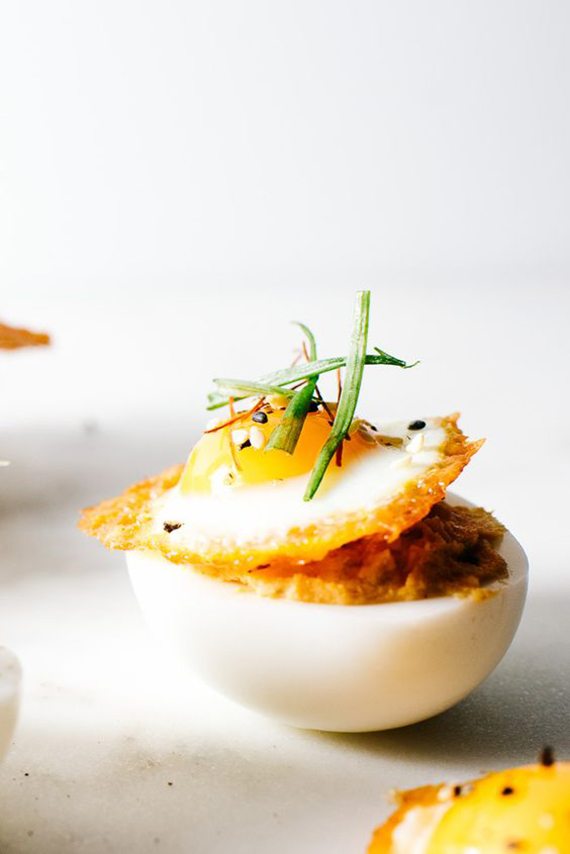 Spicy korean deviled eggs recipe by I Am A Food Blog