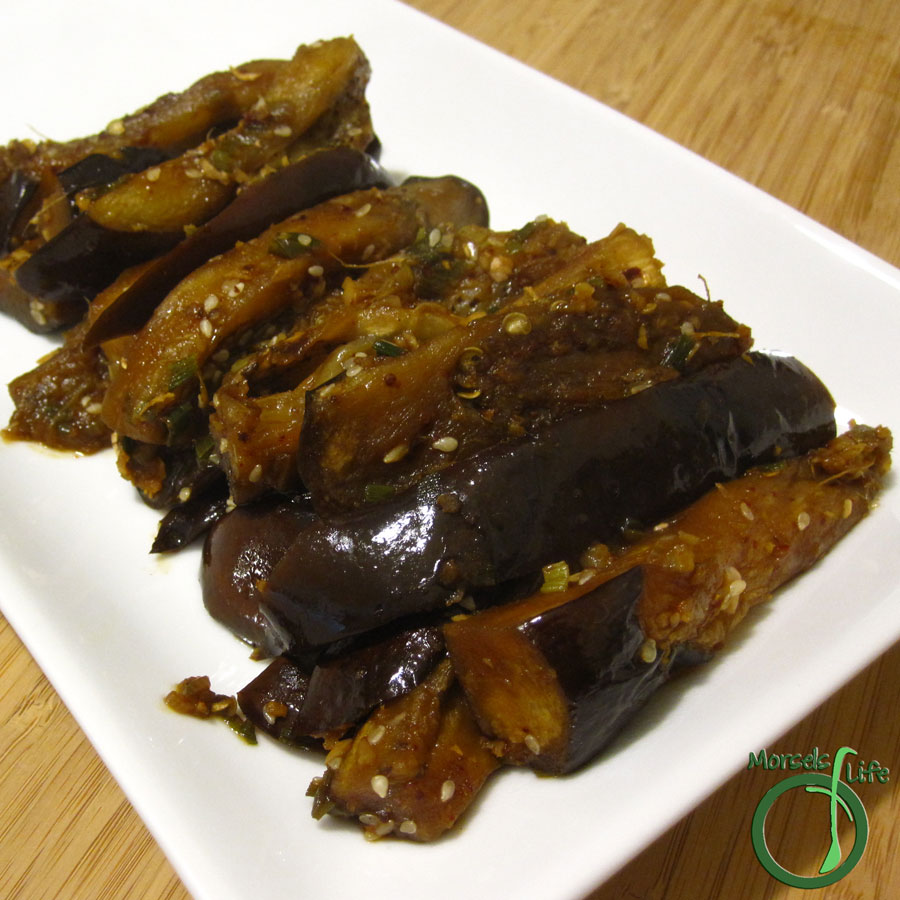 Morsels of Life - Spicy Eggplant Stir Fry - A quick and easy eggplant stir fry flavored with garlic, ginger, green onions, sesame, and a bit of spice.