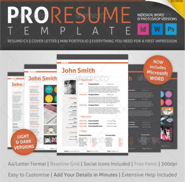20 Resume CV Templates in Indesign Word PSD Download - Designsmagorg