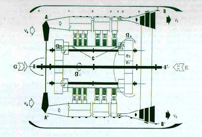 Planos del motor diseñado por Virgilio Leret.