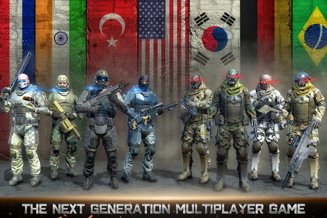 Download Country War Battleground Survival Shooting Games MOD APK Terbaru