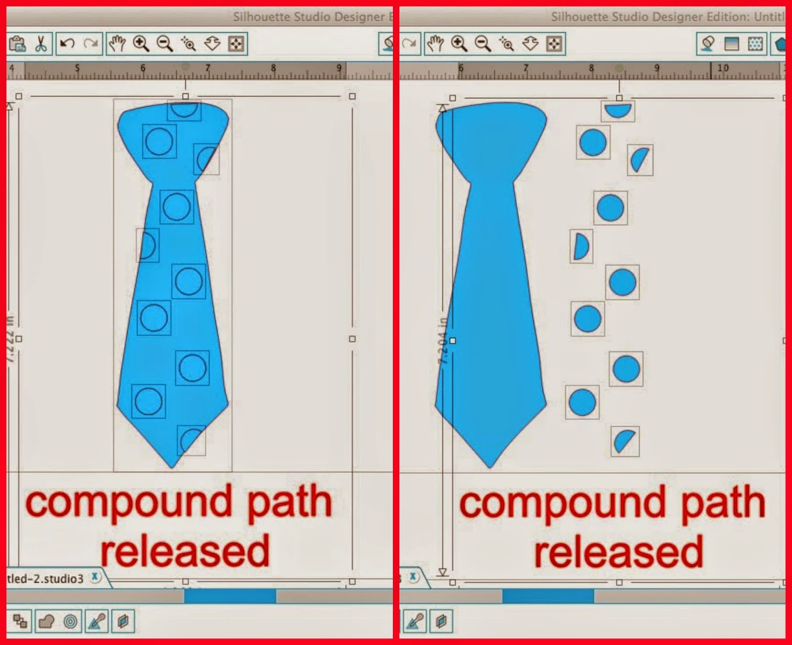 Silhouette Studio, release compound path, Silhouette tutorial