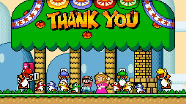 Super Mario World Thank You Nintendo World Championships ending