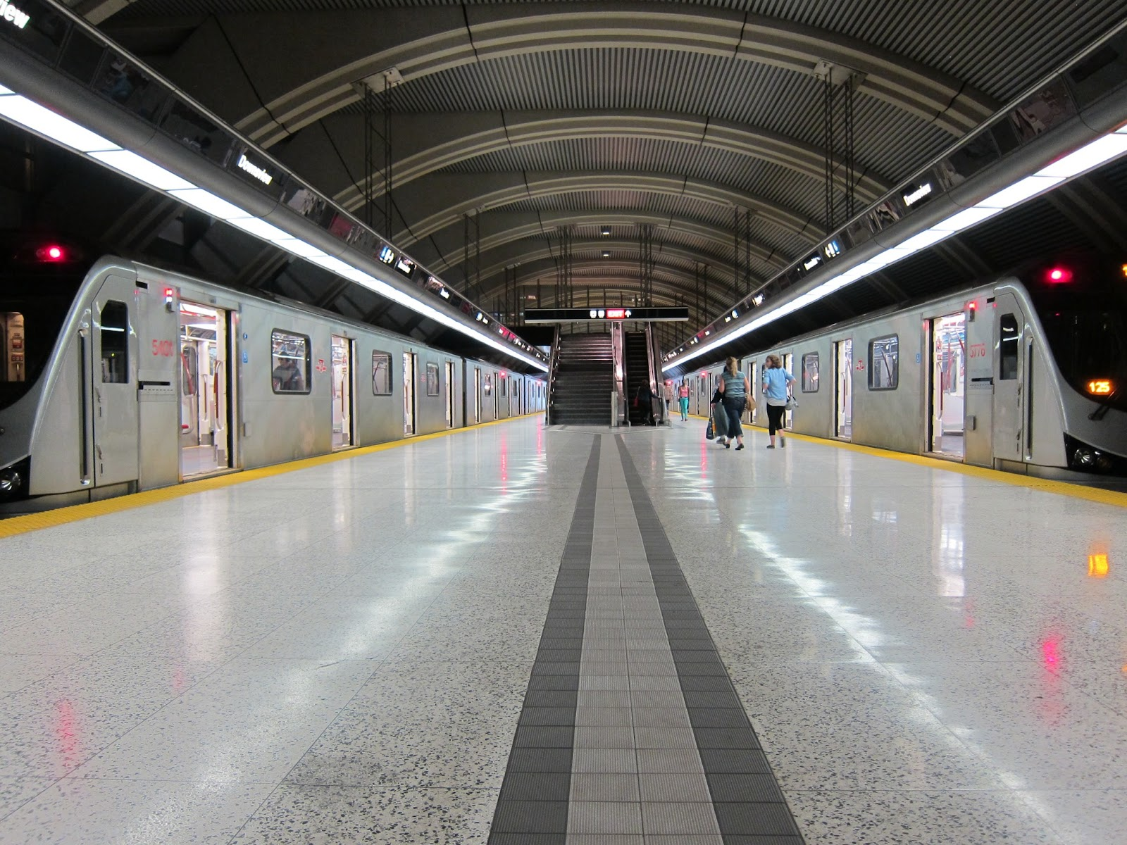 Downsview station's vaulted subway platform