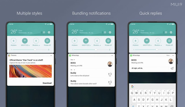 Xiaomi rolls out MIUI 9.5.4.0.NCFMIFA stable ROM to bring new Notification Shade and Quick Reply