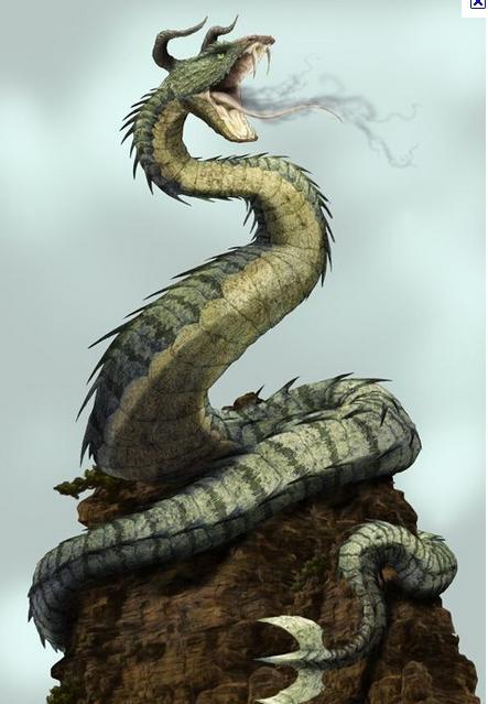 Greek Mythological Gods & Figures: Dragons and She-Dragons