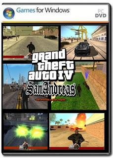 لعبة جاتا جديد 2016 GTA IV SAN  gta san andreas mod