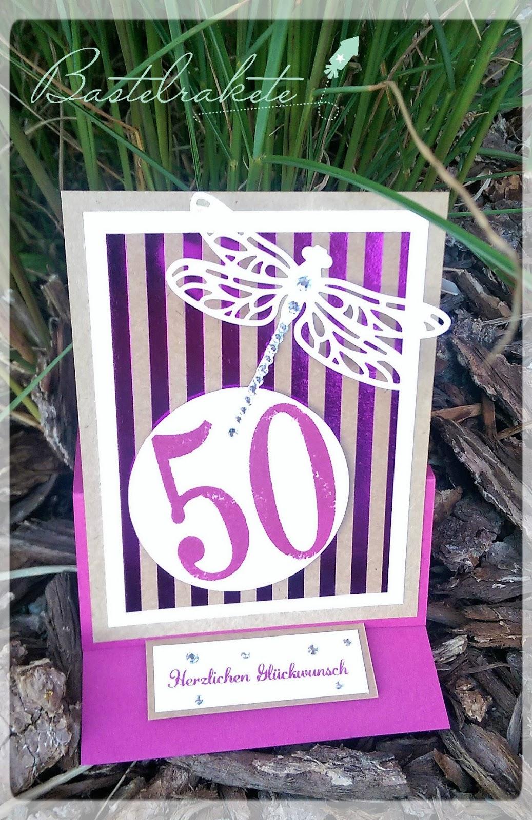 Karte 50 Geburtstag.Bastelrakete Karte Zum 50 Geburtstag