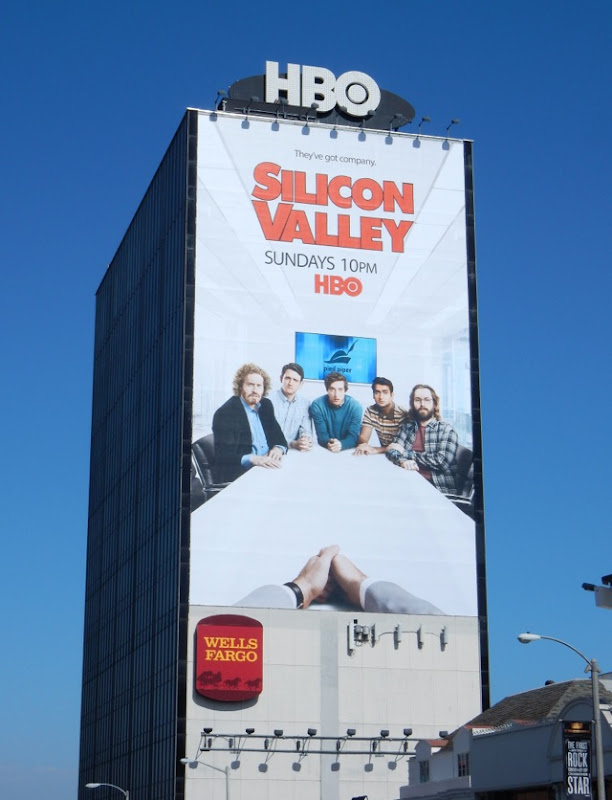Giant Silicon Valley season 3 billboard