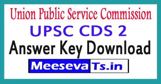 Union Public Service Commission UPSC CDS 2 Answer Key Download 2017