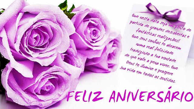 Mensagem de Aniversário - Flores