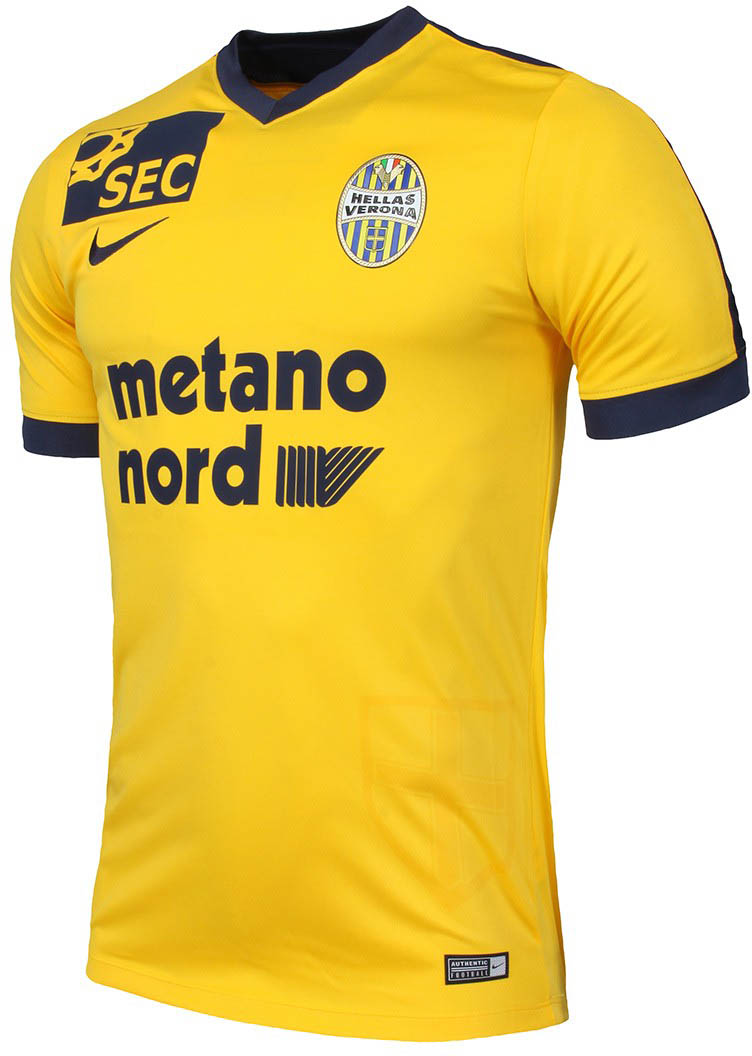 Hellas verona 16 17 home and away kits released footy for Uniform verona