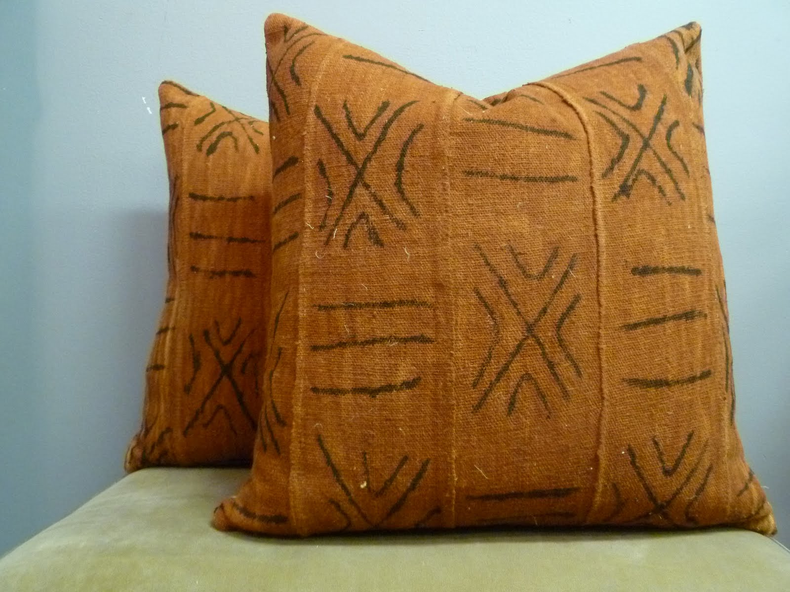 nakedwindow: reversible 20x20 african mudcloth pillow covers