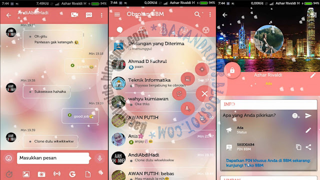 BBM mod Love Story Theme Animated Versi 3.0.1.25 APk Terbaru For android