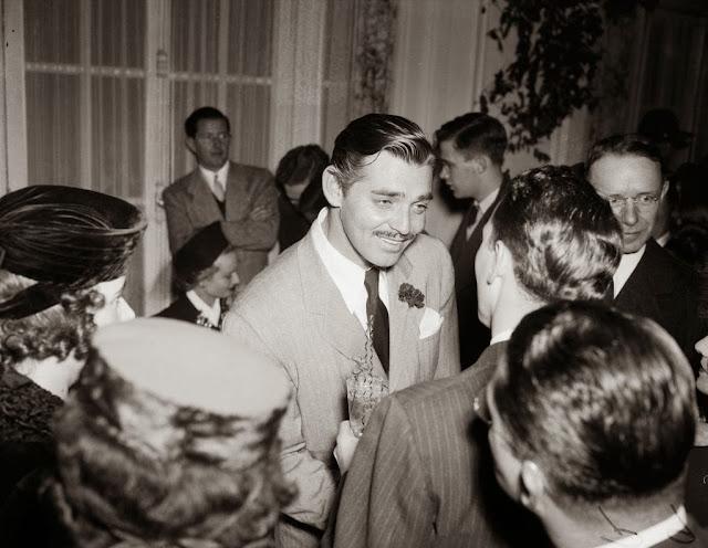 Clark Gable Gone with the Wind 1940 premiere animatedfilmreviews.filminspector.com