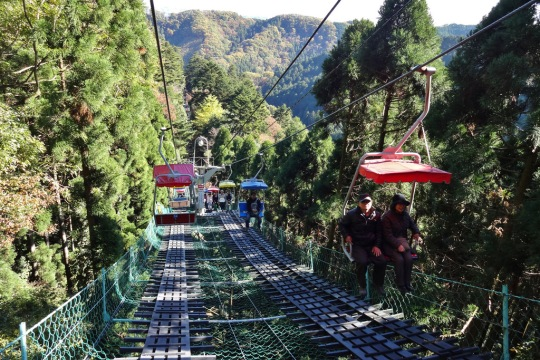 Kereta gantung di Gunung Takao