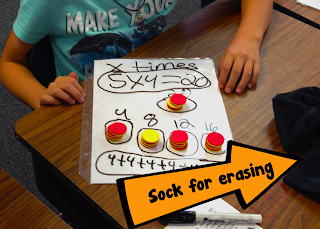 Recycle old socks as erasers - Light bulbs and Laughter blog