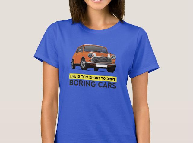 Morris Mini t-paita tekstillä