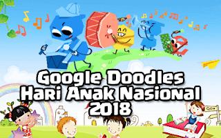 Google Doodle (23 Juli 2018) - Hari Anak Nasional 2018