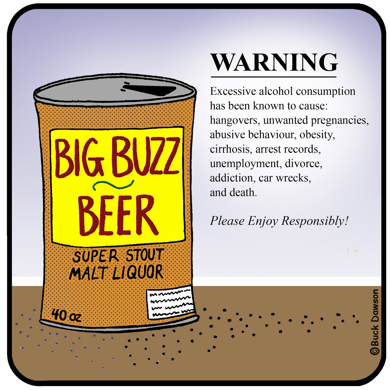 This is a picture of Tactueux Funny Beer Warning Labels