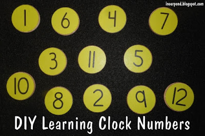 DIY Learning Clock from In Our Pond