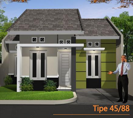 Bentuk Muka Rumah Minimalis Type 45 Terbaru 2016