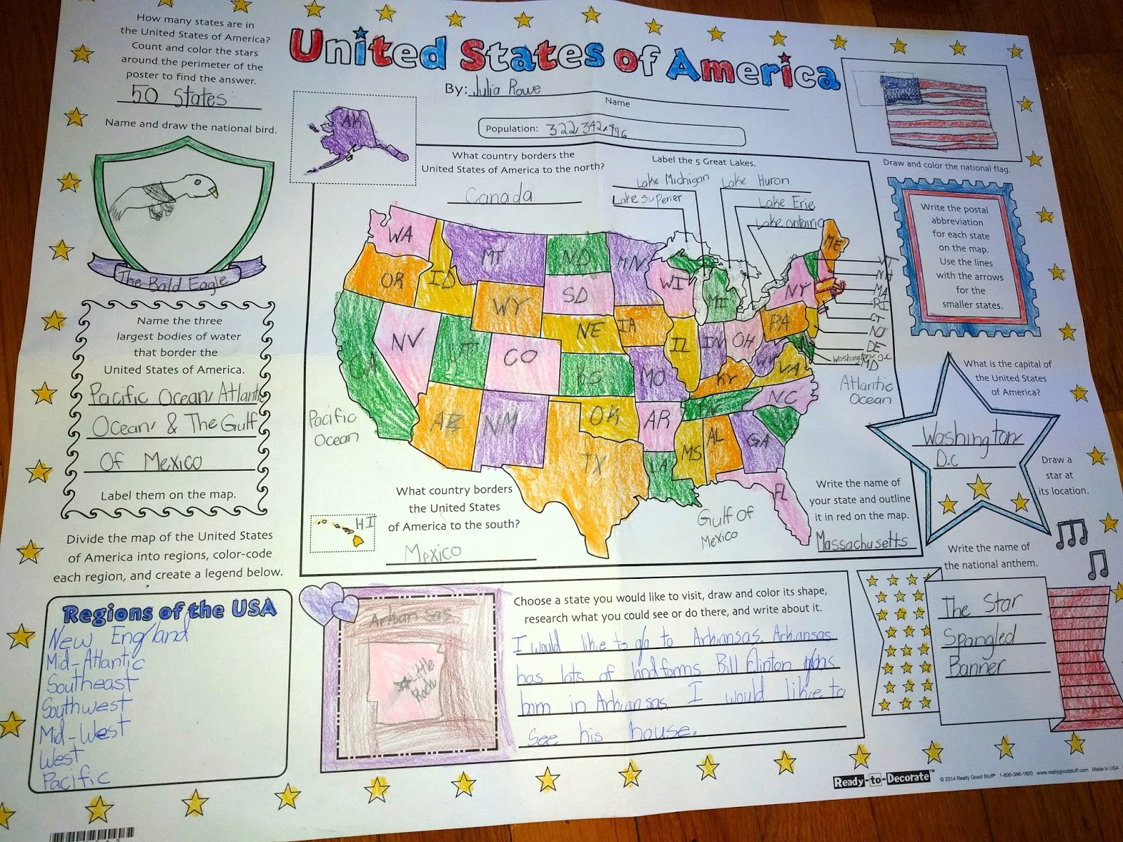 Tales from the Rowe Household The United States Map Again
