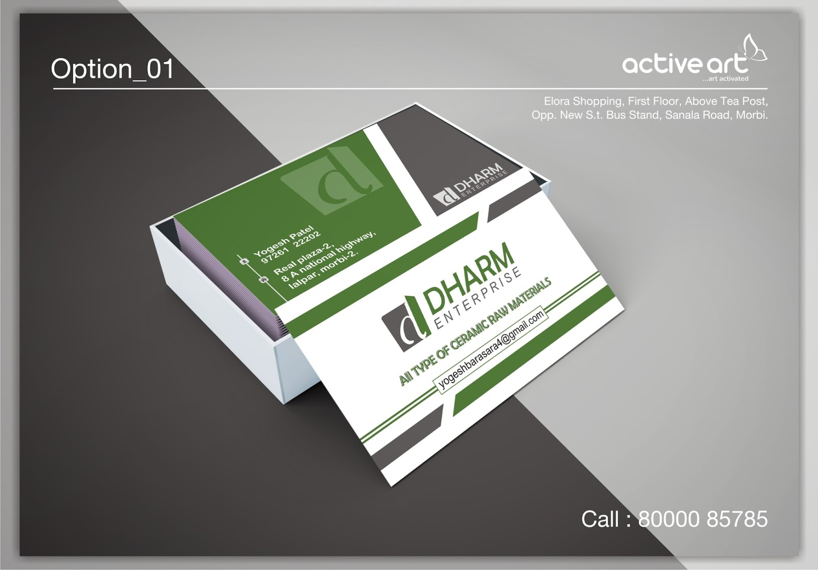 Business card design active art business card design colourmoves