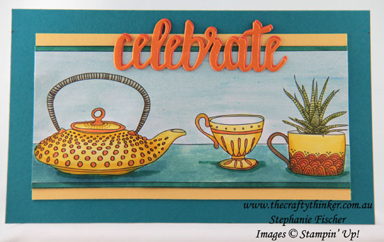 #thecraftythinker, #cardmaking, #brusho, #stampinup, #saleabration, Brusho, Just Add Color, Celebrate You, Sale-A-Bration, Stampin' Up! Australia Demonstrator, Stephanie Fischer, Sydney NSW