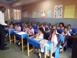 Pupils paying rapt attention during intensive teaching right from day one