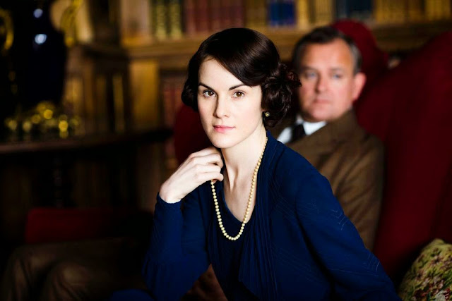 'DOWNTON ABBEY,' SERIES FIVE (2014). Michelle Dockery, Hugh Bonneville and Maggie Smith return in the ITV series. All text © Rissi JC