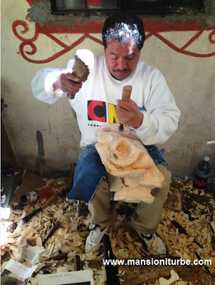 Traditional Purepecha Mask Maker from Tocuaro, Michoacan
