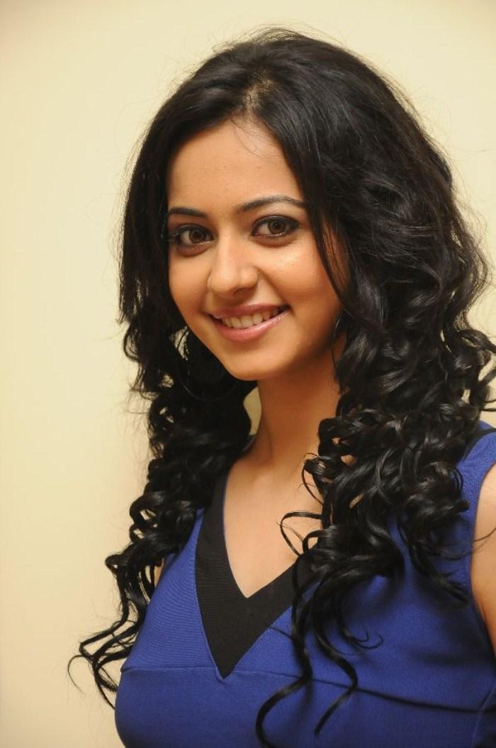 Rakul Preet Hot  Photo Shoot In Beautiful Blue Dress