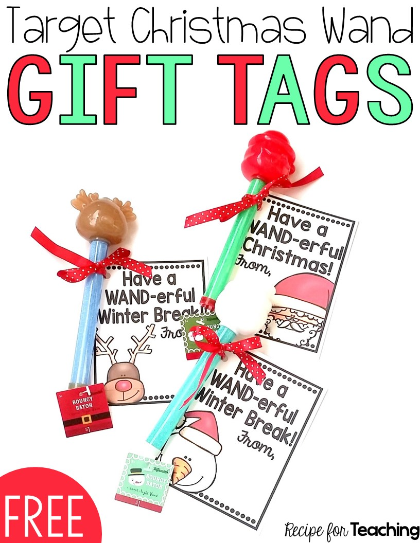 Target Christmas Wand Gift Tags - Recipe for Teaching