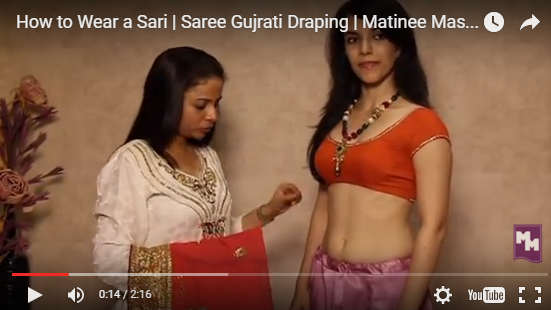 35f12aca538471 Here is the step by step to wear gujarati saree video to beautiful women wear  saree in different styles. this few simple steps make you easily and  perfectly ...