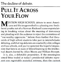 Michael McGough high school debate The New Republic