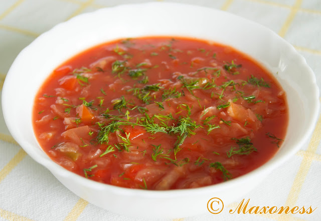 Суп с томатным соком